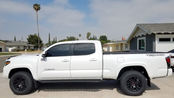 Flow Forged 4TR Pro Style - F246, 17x8.5, 0mm Offset White Toyota Tacoma TRD Sport